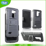 Factroy Price for High Quality 3 in 1 PC+TPU Holster Case with 180 Rotating Belt Clip and Kickstand for LG X190