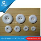 White Two Hole Resin Button for Garment