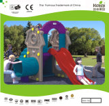 Kaiqi Small Colourful Plastic Children′s Tunnel and Slide Set for Playground (KQ50131C)
