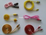 Colorful USB Cable Micro USB Cord for iPhone and Samsung