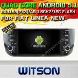 Witson Android 5.1 Car DVD GPS for FIAT Linea New with Chipset 1080P 16g ROM WiFi 3G Internet DVR Support (A5594)