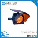 Amber Solar Traffic Warning Light