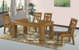 Oak Color Solid Wood Dining Room Tables and Chairs