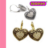 2016 New Vintage Rhinestones Heart Clip Earrings for Women #21764