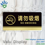 No Smoking Acrylic Sign Board for Public Place Use