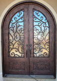 Custom Round Top Wrought Iron Front Door