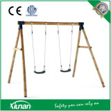S2s02 Wooden Swing Set for Kids and Children in The Garden