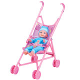 14 Inches Vinyl Doll Lovely Baby with Stroller 10219275