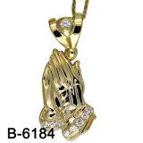 New Design Elegant Ladies Fashion Micro Pave Pendant Gold Plating (B-6184)