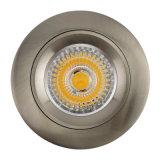 Die Cast Aluminum GU10 MR16 Satin Nickel Round Fixed Recessed Spotlight LED (LT1104)
