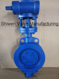 Heavy Duty Metal Seal Wafer Butterfly Valve with Gear