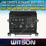 Witson Car DVD for Toyota Alphard 2007-2013 Car DVD GPS 1080P DSP Capactive Screen WiFi 3G Front DVR Camera