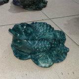 Semi Precious Stone Crystal Quartz Blood Stone Toad Carving Statue