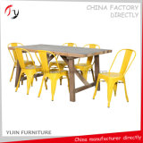 Popular Worldwide Model Armless Yellow Hotel Iron Chair (TP-32)