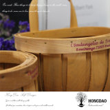 Hongdao Handmade Custom Christmas Wall Hanging Decorations Wooden Basket _L