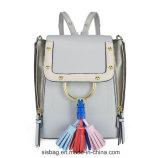 High Quality PU Tassel Women Backpack Zipper Double Shoulder Bag