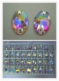 Crystal Oval Shaped Clothing Stone Bead with Ab Color (3063)