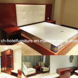New Design King Size Luxury Chinese Wooden Hotel Bedroom Furniture (GLB-7000801)