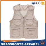 Custom Men′s Outdoor Multifunction Multi-Pocket Pierced Fishing Vest