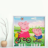 Factory Direct Wholesale Wall Art Home Decoration Children DIY Crystal Sticker T-141