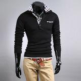 Hot Sale Black Fashion Cotton Polo Men T-Shirt
