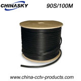CCTV 95% Braided Rg59 Siamese Cable with Power Cable (90S/100M)