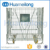 Industrial Stackable Folding Rolling Metal Wire Mesh Storage Cage