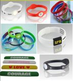 Cheap Customized Fashion Embossed Debossed Printed Silicone Wristband (BZ-SR001)