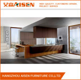Special Design Commercial Use Lacquer Kitchen Cabinet with Wooden Island