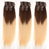 Snap Clip Hair Extension, Remy Human Hair Extensin