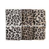 for iPhone 5/5s Leopard Design Wallet Case