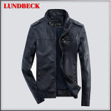 New Arrived Fashion PU Jacket for Men Casual Coat