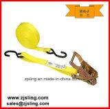 "1"" X 20′ Cargo Ratchet Strap/Lashing W/ S-Hook"