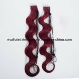 Full Cuticles European Remy Tape in Human Hair Extension in Stock