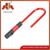 Red Color Security Durable U Shape Lock