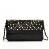 High Quality Wholesale Fashion Flap Rivet Leather Crossbody Shoulder Bag