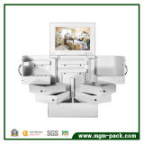 Rotating Mirrored Wooden Cosmetic Storage Cabinet