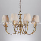 Iron Pendant Light Chandelier with Fabric Shade (SL2112-8)