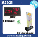 Wireless Call Button System for Restaurant with Display and Menu Button