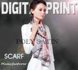 Digital Print Satin 100% Poly for Scarf (M036)