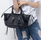 Black Genuine Leather Ladies Handbag for Women