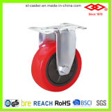 Industrial Red PU Caster Wheel (D120-36E075X30)