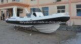 Liya 7.5m Rigid Fiberglass Hull Boat Inflatable Marine Rescue Ambulance Boat