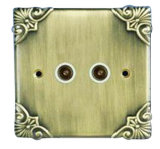 FG013A British 2 Gang TV Socket
