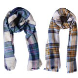 Ladies′ Soft Woven Check Scarf