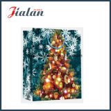 Printing UV Luxury Christmas Design Gift Paper Bag with Tag
