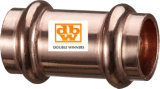 Seamless Copper Water Tube Coupling with Stop Point