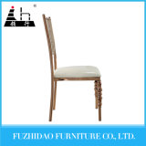 Gold Stainless Steel PU Leather Wedding Bride and Groom Chairs