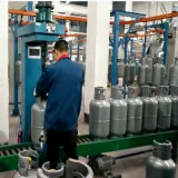 12.5kg/15kg LPG Gas Cylinder Production Line Body Manufacturing Equipments Valve Mounting Machine
