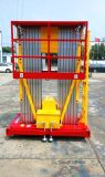 Dual Masts Hydraulic Lift Aerial Work Platform for Height 6m